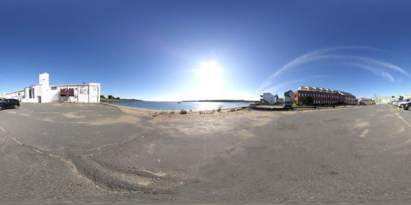 Gloucester Beach 360 degree panoramic photography image and map for 3D rendering.