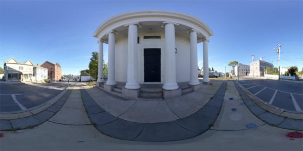 05. Gloucester Church 360 degree panoramic photography image and map for 3D rendering.