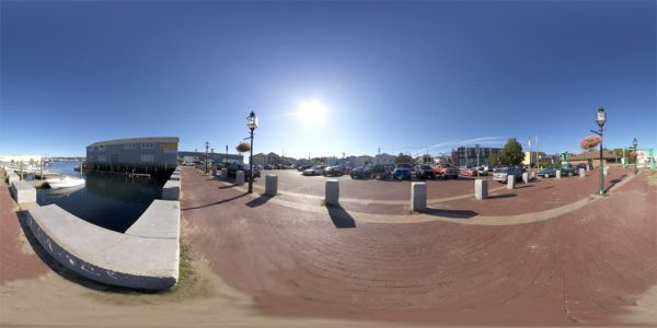 Gloucester Pier 360 degree panoramic photography image and map for 3D rendering.