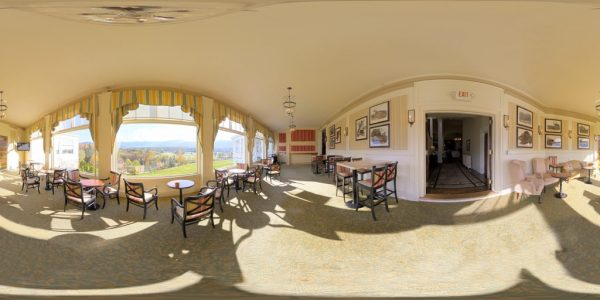 Mt. Washington Dining Room 360 degree panoramic photography image and map for 3D rendering.