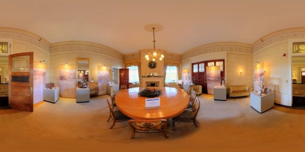 Mt. Washington Gold Room 360 degree panoramic photography image and map for 3D rendering.