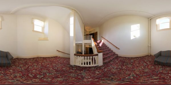 Mt. Washington Staircase 02 360 degree panoramic photography image and map for 3D rendering.