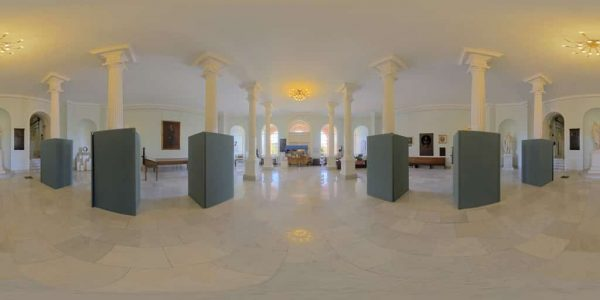 State House, Doric Hall, Boston, MA. 360 degree panoramic photography image and map for 3D rendering.