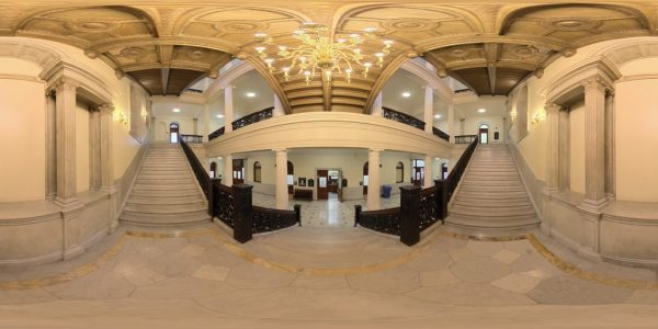 State House Staircase 01, Boston MA. 360 degree panoramic photography image and map for 3D rendering.