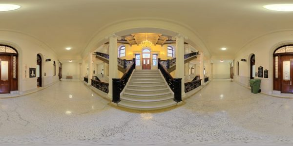 State House Staircase 02, Boston MA. 360 degree panoramic photography image and map for 3D rendering.