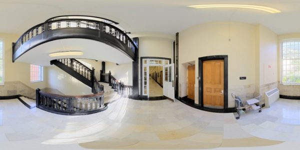 State House Staircase 03, Boston MA. 360 degree panoramic photography image and map for 3D rendering.