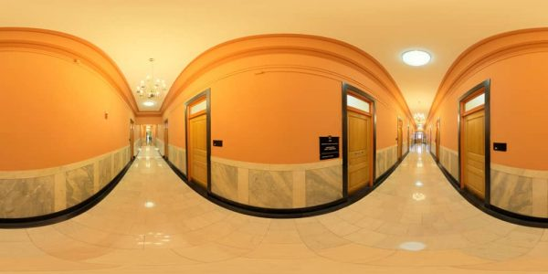State House Offices Wing, Boston MA. 360 degree panoramic photography image and map for 3D rendering.