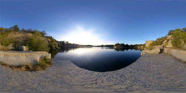 Halibut Point State Park Pond 03 360 degree panoramic photography image and map for 3D rendering.