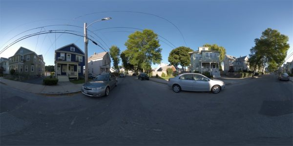 Marion Street 360 Degree Equirectangular Panoramic Map for 3D rendering.