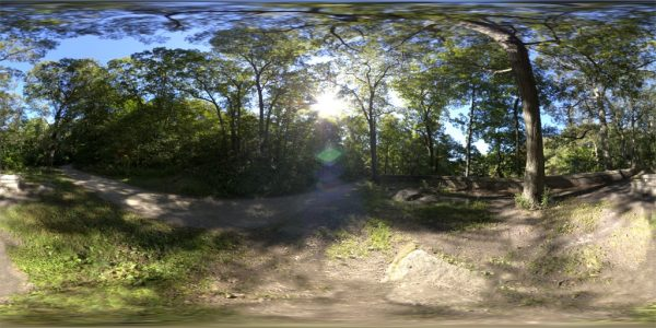 Middlesex Fells Path 01 360 Degree Equirectangular Panoramic Map for 3D rendering.