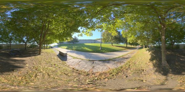 Castle Island Path 02 360 degree panoramic photography image and map for 3D rendering.