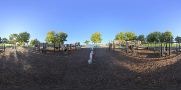 Playground 360 degree panoramic photography image and map for 3D rendering.