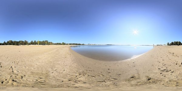 South Boston Beach 02 360 degree panoramic photography image and map for 3D rendering.