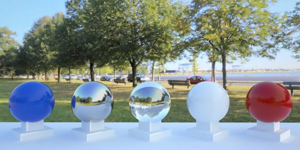 3D HDR rendering and photo image of South Boston Park.
