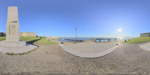 Waterfront Memorial 02 360 degree panoramic photography image and map for 3D rendering.