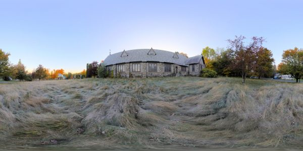 Abandoned Church 360 degree panoramic photography image and map for 3D rendering.