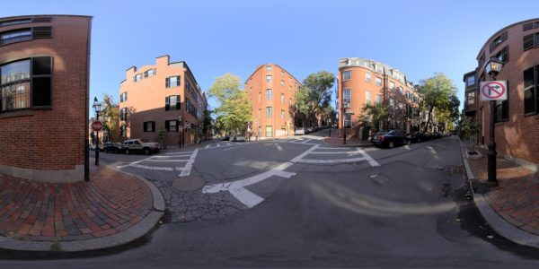Beacon Hill 01 360 degree panoramic photography image and map for 3D rendering.