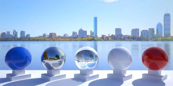 3D HDR rendering and photo image of Charles River 01.