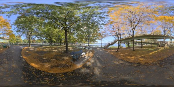 Charles River Esplanade 02 360 degree panoramic photography image and map for 3D rendering.