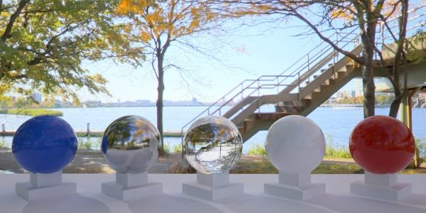 3D HDR rendering and photo image of Charles River Esplanade 02.