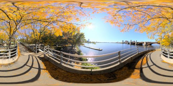 Charles River Esplanade 03 360 degree panoramic photography image and map for 3D rendering.