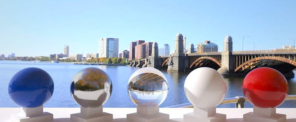 3D HDR rendering and photo image of Charles River Esplanade 03.