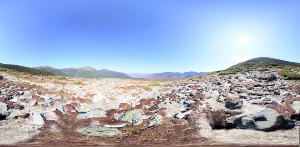 Mount Washington 4 Meters 06 360 degree panoramic photography image and map for 3D rendering.