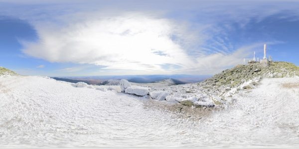 Mount Washington Summit 01 360 degree panoramic photography image and map for 3D rendering.