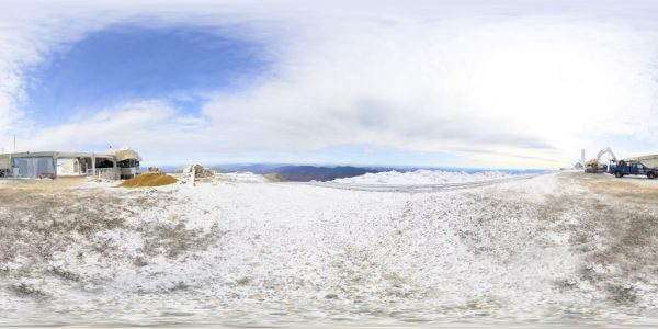 Mount Washington Summit 02 360 degree panoramic photography image and map for 3D rendering.