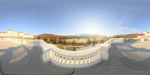 Mt. Washington Hotel Land 360 degree panoramic photography image and map for 3D rendering.