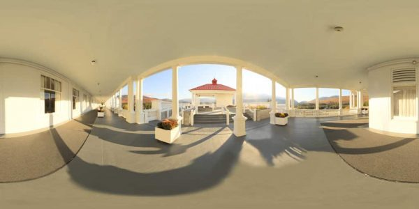 Mt. Washington Hotel Lookout 360 degree panoramic photography image and map for 3D rendering.