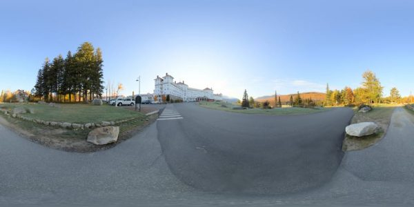 Mt. Washington Hotel Panorama 360 degree panoramic photography image and map for 3D rendering.