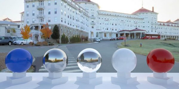 3D HDR rendering and photo image of Mt. Washington Hotel Panorama.
