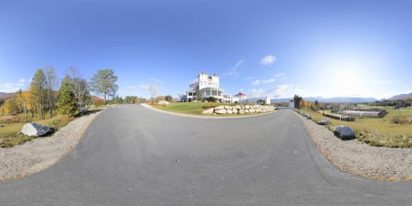 Mt. Washington Resort 360 degree panoramic photography image and map for 3D rendering.