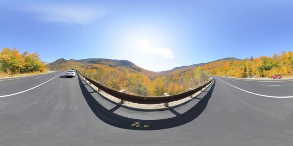 New Hampshire Fall Panorama 360 degree panoramic photography image and map for 3D rendering.