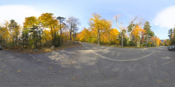 New Hampshire Autoroad 360 degree panoramic photography image and map for 3D rendering.