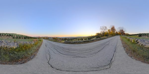 NH Tree Farm 360 degree panoramic photography image and map for 3D rendering.
