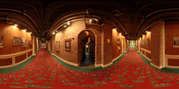 Mt. Washington Hotel Cave Entrance 360 degree panoramic photography image and map for 3D rendering.