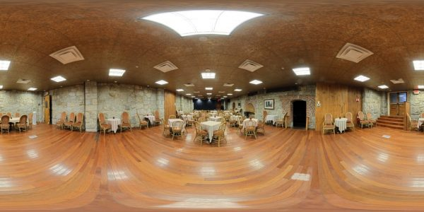 Mt. Washington Hotel Cave Room 360 degree panoramic photography image and map for 3D rendering.